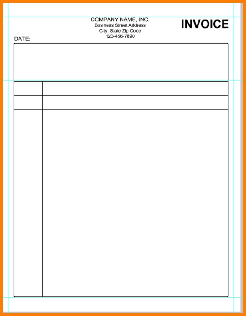 Weekly Invoice Template and 11 Blank Invoice Template Word Lease Template