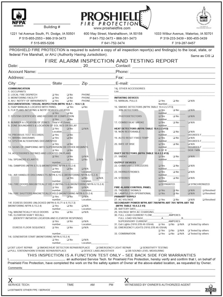 Welding Inspection Report Template and Fire Alarm Inspection Report form Security Sistems
