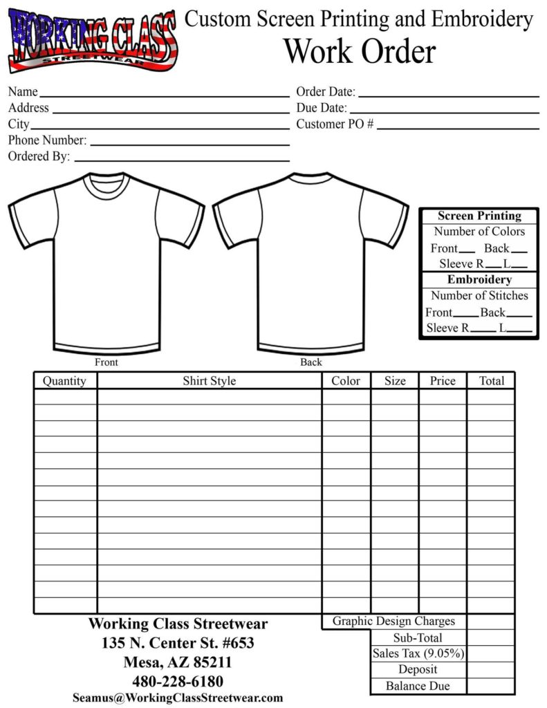Work order Sheet Sample and 100 Work order Template Excel U Doc Daily format Simple