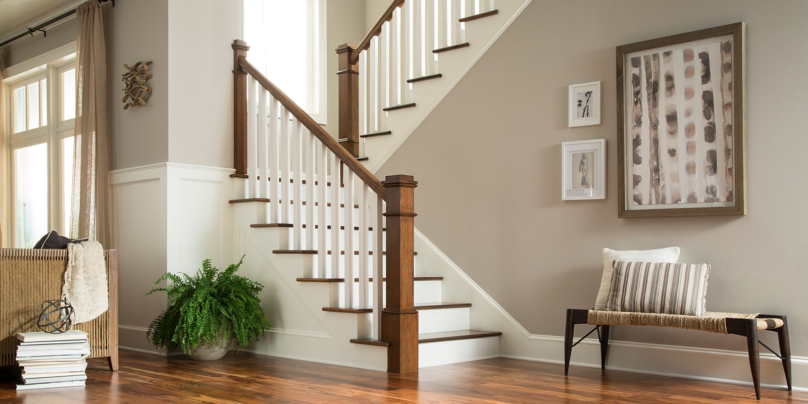 Stairs Stair Parts Attic Stairs Tague Lumber | Interior Handrails For Steps | Aircraft Cable | Wrought Iron | Western | Closed Staircase | Stair Bannister