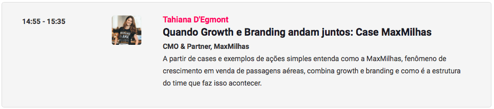 Palestrante de growth e marketing