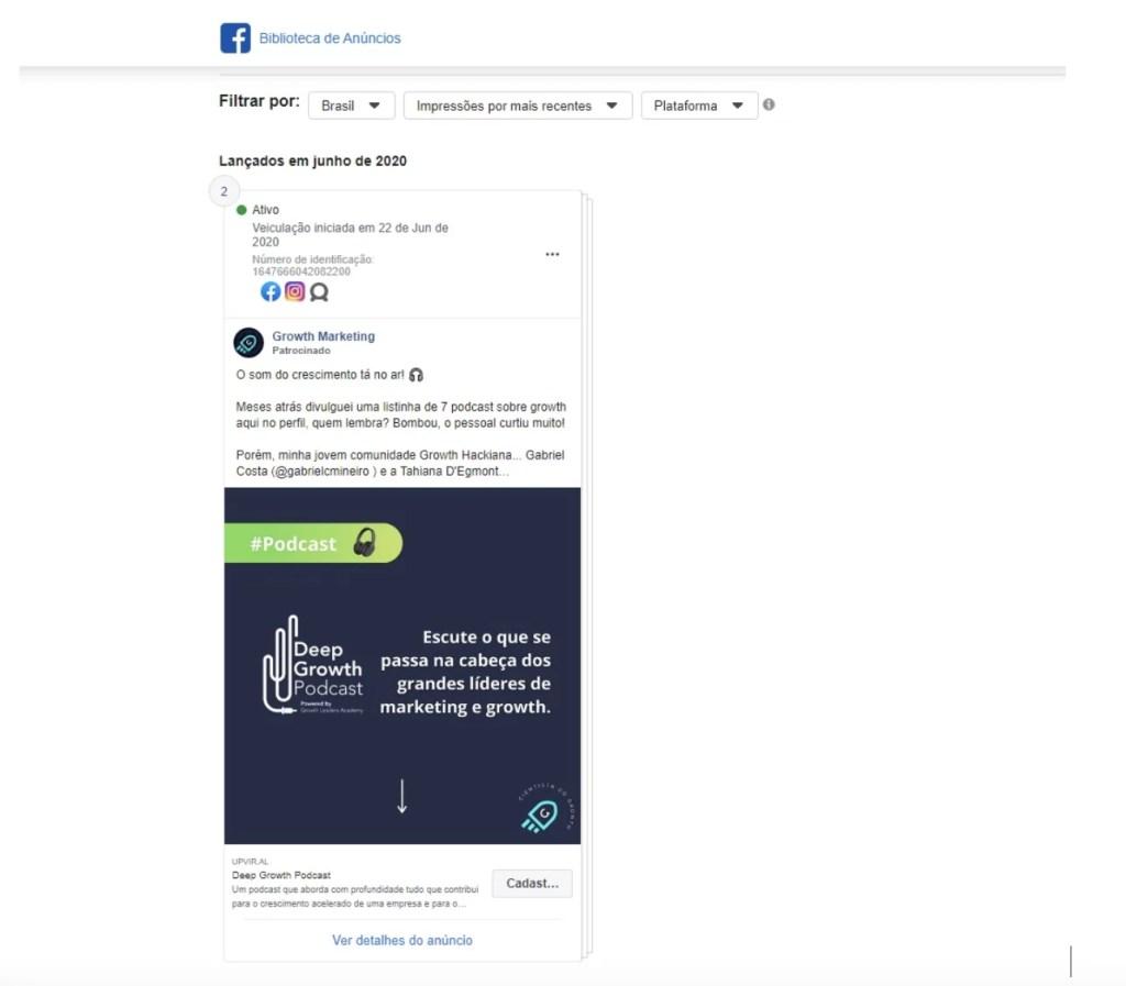 Anúncios com o programa de referral