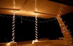 Christmas lights on Tahina