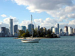Miami view from our anchorage