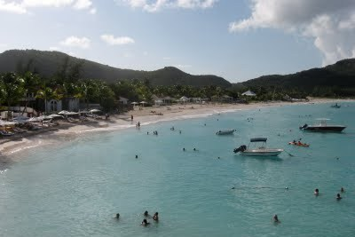 Baie St. Jean, St. Barts from Eden Rock