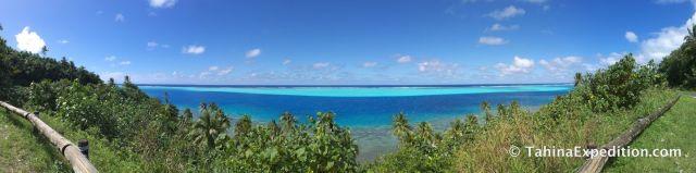 Panorama in Huahini, French Polynesia