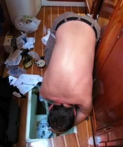 Fixing a bilge pump