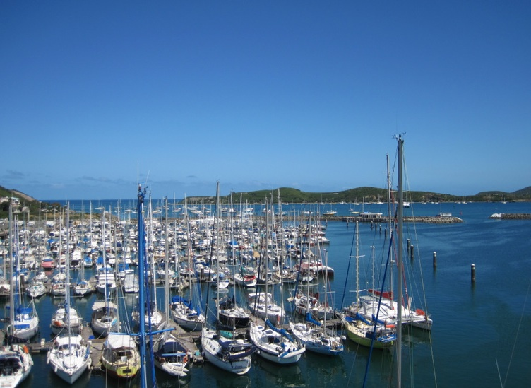 Port Moselle Marina from mast