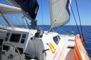 Sailing the New Caledonia lagoon