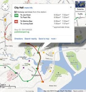 Transit Map Singapore