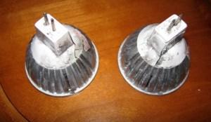 Blown out bulbs