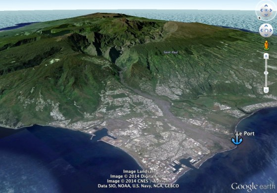 Reunion in Google Earth