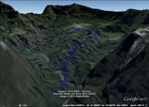 Cilaos Area Google Earth