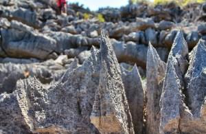 Razor-sharp rocks