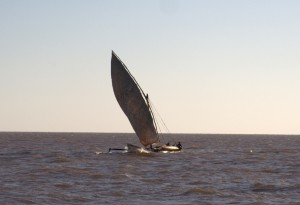 Racing local boat