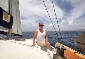 Karen arriving at Grenada