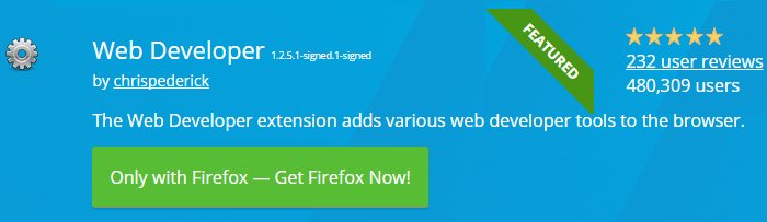 Web Developer - Best FireFox Extensions For Web Designers
