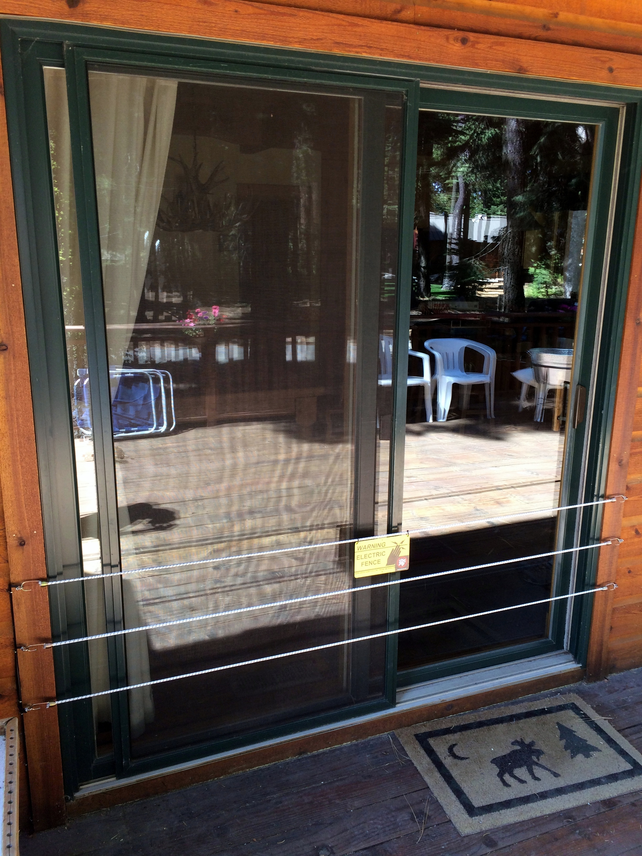 Bear Fences For Doors Windows Amp More Tahoe Bear Busters