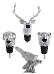 Silver Animal Wine Aerator Dog Elk Bear Eagle