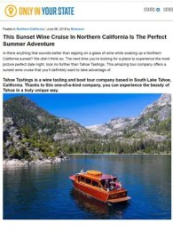 Only In Your State - This Sunset Wine Cruise In Northern California Is The Perfect Summer Adventure