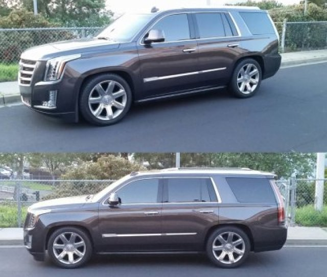 Heres Tonys Norcal Ss Escalade Dropped On The Factory 22s Before He Threw The 26s On Think Thats Like A  Or 2 5 Hes Got In These Pics