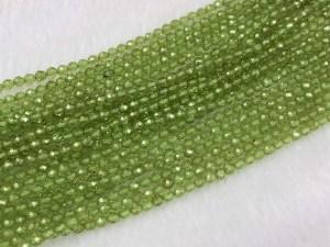 """15.5"""" Faceted Round Olivine Bead Strand – Per String"""