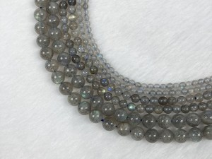 15.5'' Round Labradorite Bead Strand - Per String