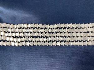 "16"" Single Tiny Star White MOP Bead Strand - Per String"