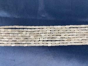 "16"" Single Tube White MOP Bead Strand - Per String"