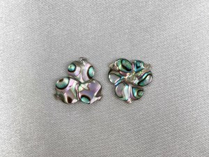 Carved Clover Abalone Loose Piece - Per 6 pcs