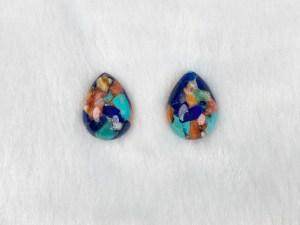 Drop Royal Blossom Stone Cabochons - Per Pair
