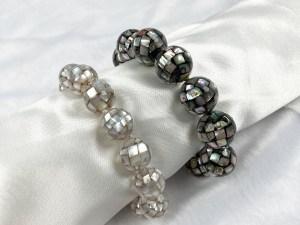 Mosaic Chunky Ball Abalone/White MOP Bracelet