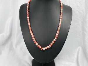Rondelle Spiny Oyster with Turquoise Beads Necklace