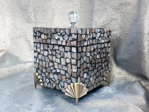 Square Mosaic Shell Jewelry Box