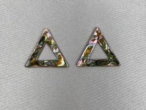 Triangle Abalone Hoop - Per Pair