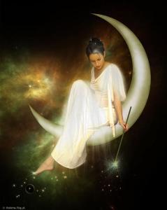 księżycowa dziewczyna Niebieska pełnia