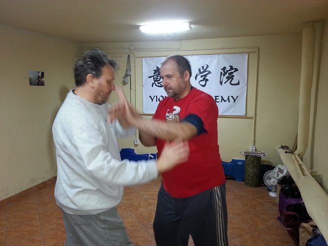 pchające dłonie i KO weekend Tai Chi