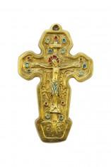 063-Crucifix-bronze-emaux-objet-culte-17cm