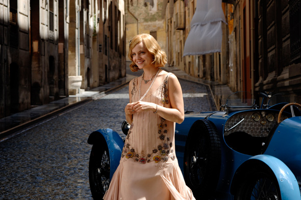 Mena Suvari with the 1927 Bugatti in 'Hemingway's Garden of Eden'
