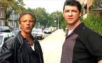 Eddie Sicoli (left) and Paul Dunleavy co-star in 'Back to Manhattan'