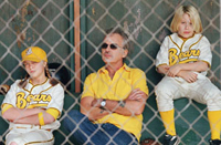 Sammi Kane Kraft (left), Billy Bob Thornton (center) and Timmy Deters star in 'Bad News Bears'