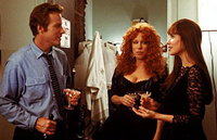 John Heard makes a move on childhood friends Bette Midler (2nd from r.) and Barbara Hershey in 'Beaches'