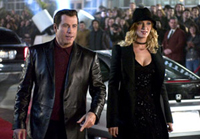 John Travolta reunites with his Pulp Fiction co-star, Uma Thurman, in the not-so-cool 'Be Cool'