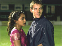 Parminder Nagra and Jonathan Rhys-Meyer in 'Bend It Like Beckham'