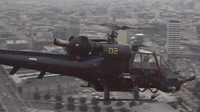 'Blue Thunder' helicopter flies over Los Angeles