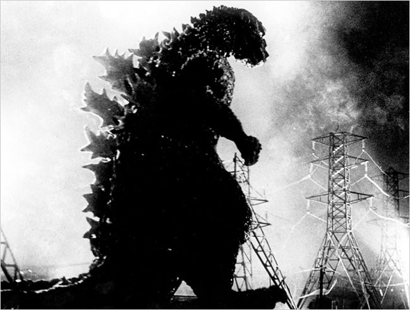 Godzilla (Gojira) first trampled through Tokyo in 1954