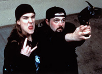 Jason Mewes and Kevin Smith are the bumbling duo, Jay and Silent Bob (respectively) in 'Mallrats'
