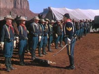 John Wayne addresses his cavalry in 'She Wore a Yellow Ribbon'