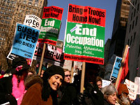 Protesters seen in 'Uncovered: The War in Iraq'
