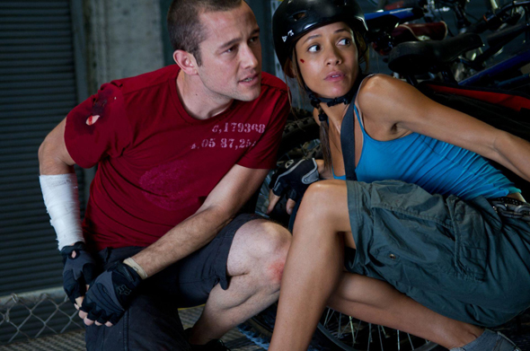 Joseph Gordon-Levitt and Dania Ramirez in 'Premium Rush'